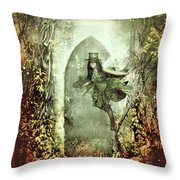 Fairy Cottage Throw Pillow