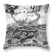 Fairy Dance Dragon Eggs Throw Pillow