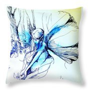 Fairy Doodles Throw Pillow