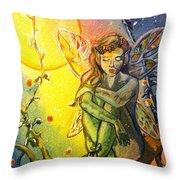Fairy Elves Throw Pillow