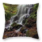 Fairy Falls In Columbia Gorge Throw Pillow