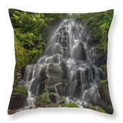 Fairy Falls On A Sunny Day Throw Pillow
