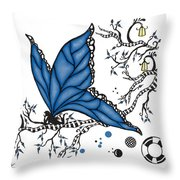 Fairy Fly Throw Pillow