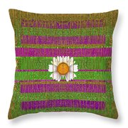 Fairy Forest In Gold Throw Pillow