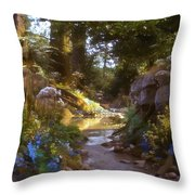 Fairy Forest Throw Pillow