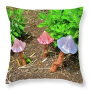 Fairy Houses Throw Pillow