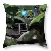 Fairy In The Wood Throw Pillow