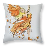 Fall Fairy Throw Pillow