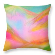 Fairy Land And Magic Mountains. To Roerich Throw Pillow