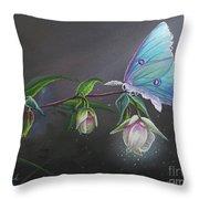 Fairy Lantern's Glow Throw Pillow