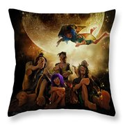 Fairy Night Chat Throw Pillow