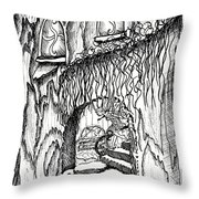 Fairy On Stairs Tree Fairy Home Throw Pillow