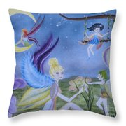 Fairy Play Throw Pillow