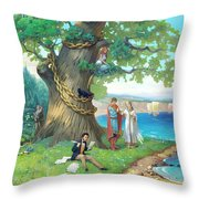 Fairy-tale Pushkin Lukomorye Throw Pillow