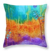Fairy Tale Woods Throw Pillow