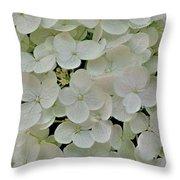 Fairy White Flowers Throw Pillow