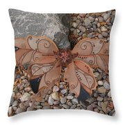Fairy Wings- Brown Throw Pillow