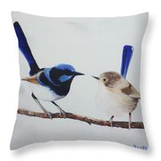 Fairy Wrens - I Love You Too  Throw Pillow