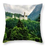 Fairytale Castle Neuschwanstein  Throw Pillow