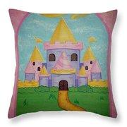 Fairytale Castle Throw Pillow