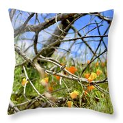 Fairytale Flowers Throw Pillow