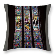 Faith In Stained Glass  Throw Pillow