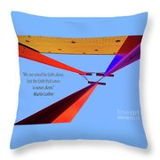 Faith Alone Throw Pillow