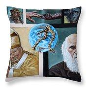 Faith And Evolution Throw Pillow