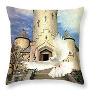 Faith Angel Throw Pillow