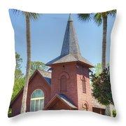 Faith Chapel Throw Pillow