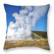 Faithful Rainbow Throw Pillow