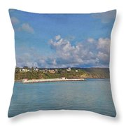 Fajardo Ferry Service To Culebra And Vieques Panorama Throw Pillow