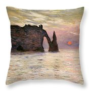 Falaise Detretat Throw Pillow