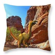 Falcarius Among Cliffs Throw Pillow