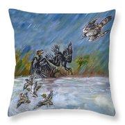 Falcon Attack  Throw Pillow