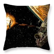 Falcon Fights Back Throw Pillow