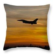 Falcon Sunset Throw Pillow