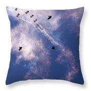 Falcons Versus Crows Throw Pillow