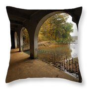 Fall Arches Throw Pillow