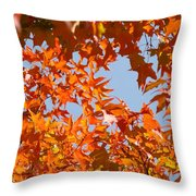 Fall Art Prints Orange Autumn Leaves Baslee Troutman Throw Pillow
