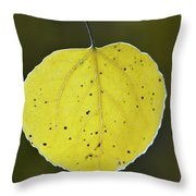 Fall Aspen Leaf Throw Pillow