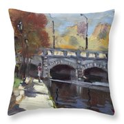 Fall At Delaware Park Buffalo Throw Pillow