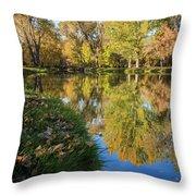 Fall At Ft Buenaventura Throw Pillow