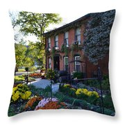 Fall At Lanier Winery In Madison  Throw Pillow