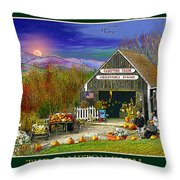 Fall At The Campton Farm Throw Pillow
