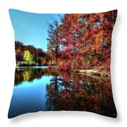 Fall At The Crosspointe Lake Throw Pillow