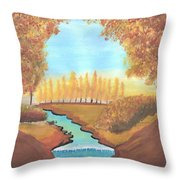 Fall At The Meadows Throw Pillow