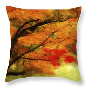 Fall At The Temple Throw Pillow