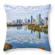 Fall Austin Skyline Throw Pillow