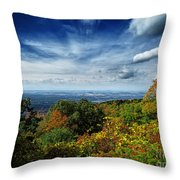 Fall Blue Ridge Parkway Throw Pillow